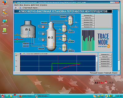 LIN МРВ SCADA TRACE MODE под Astra Linux